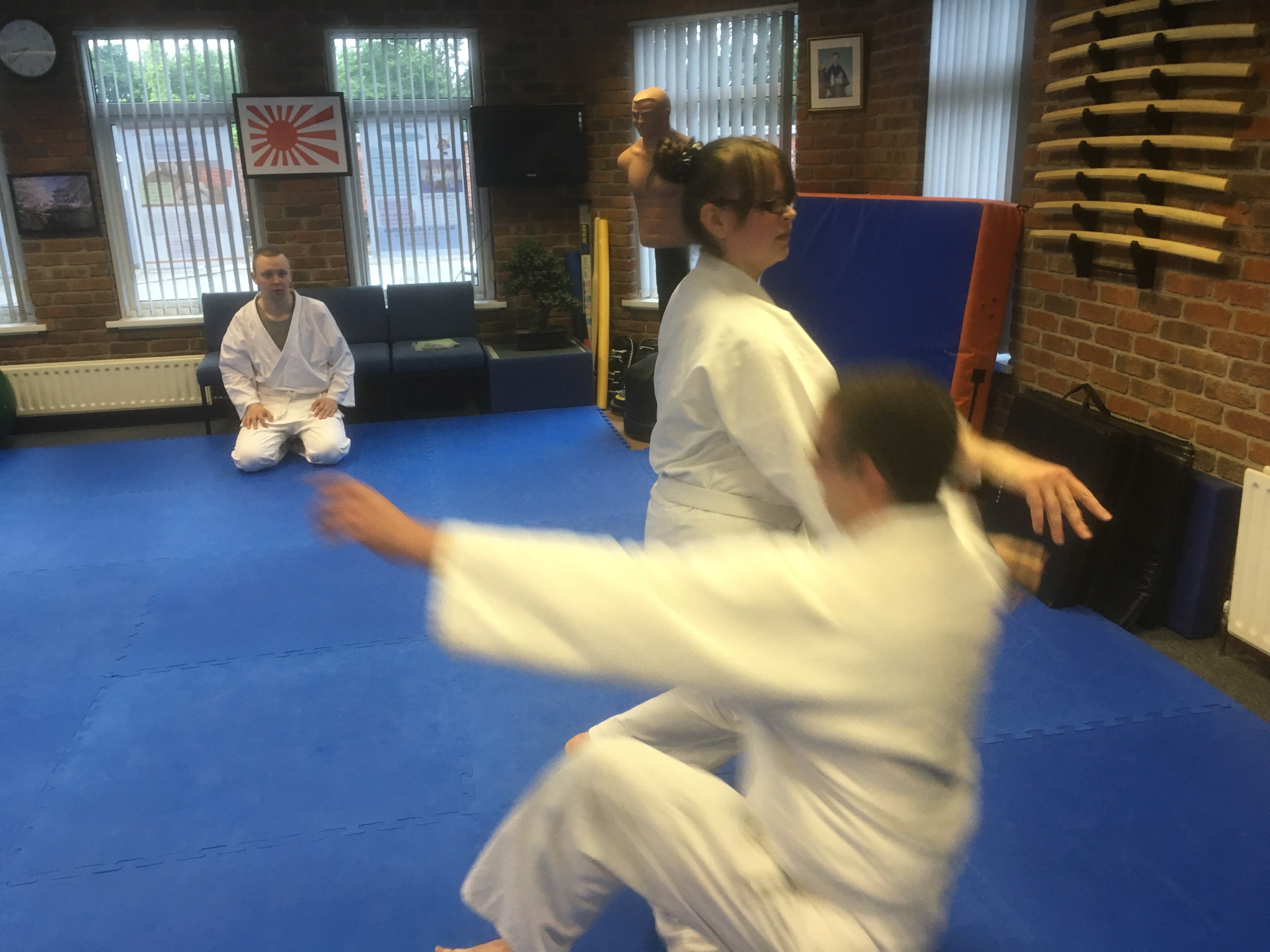 Students practicing aikido