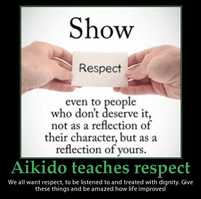 Aikido teaches respect. Martin Acton's Aikido Institute