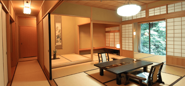 Hallway in a Japanese ryokan in Kyoto. Martin Acton Aikido Institute