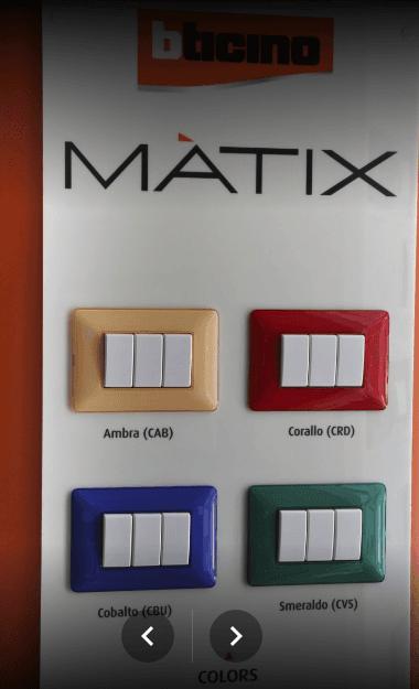 interruttori di corrente  a marchio MATRIX