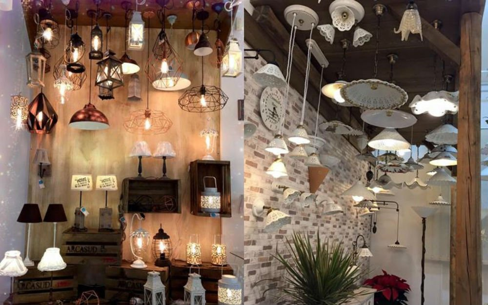 dei lampadari e delle lampade a sospensione
