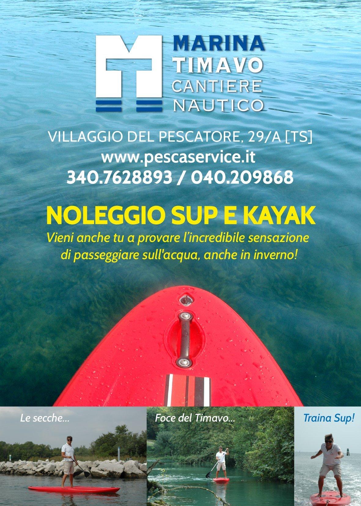 Noleggio Sup e Kayak