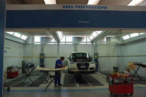 area preparazione verniciatura
