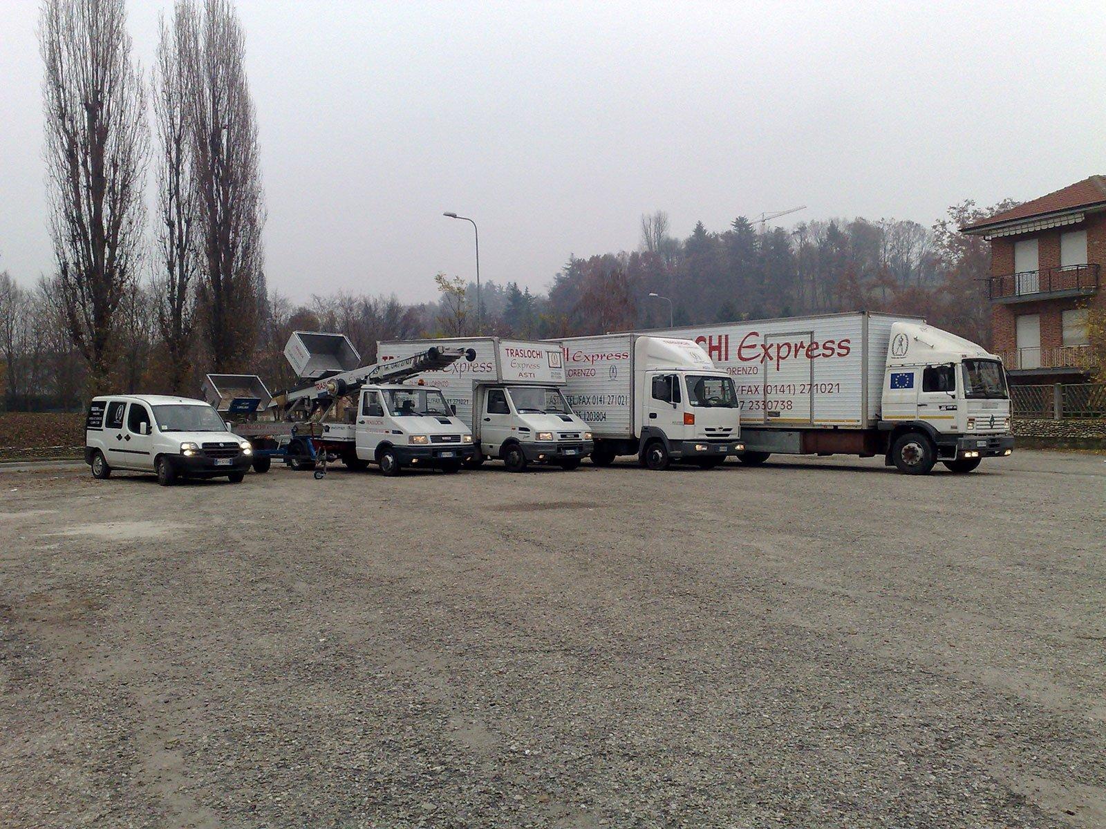 dei camion dei traslochi