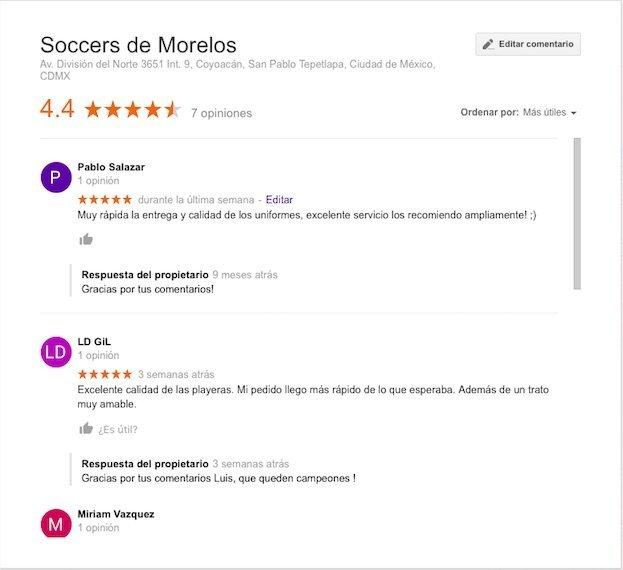 Opiniones de Soccers de Morelos