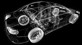 disegno di auto su sfondo nero