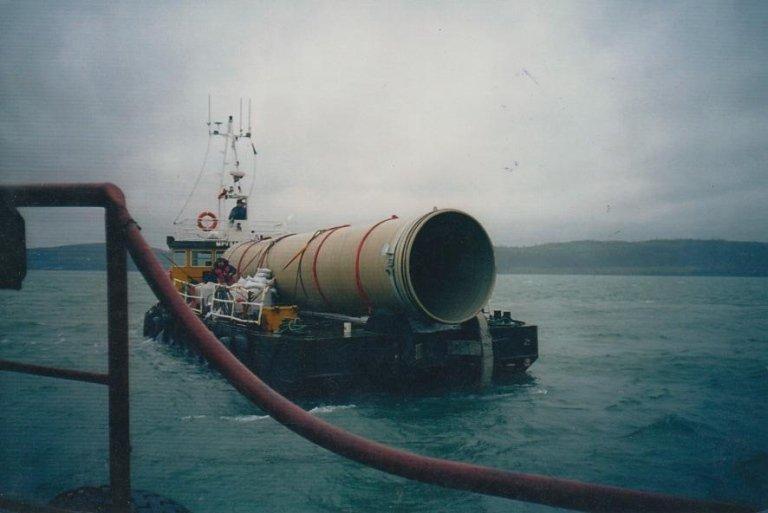 Transportation of marine pipelines