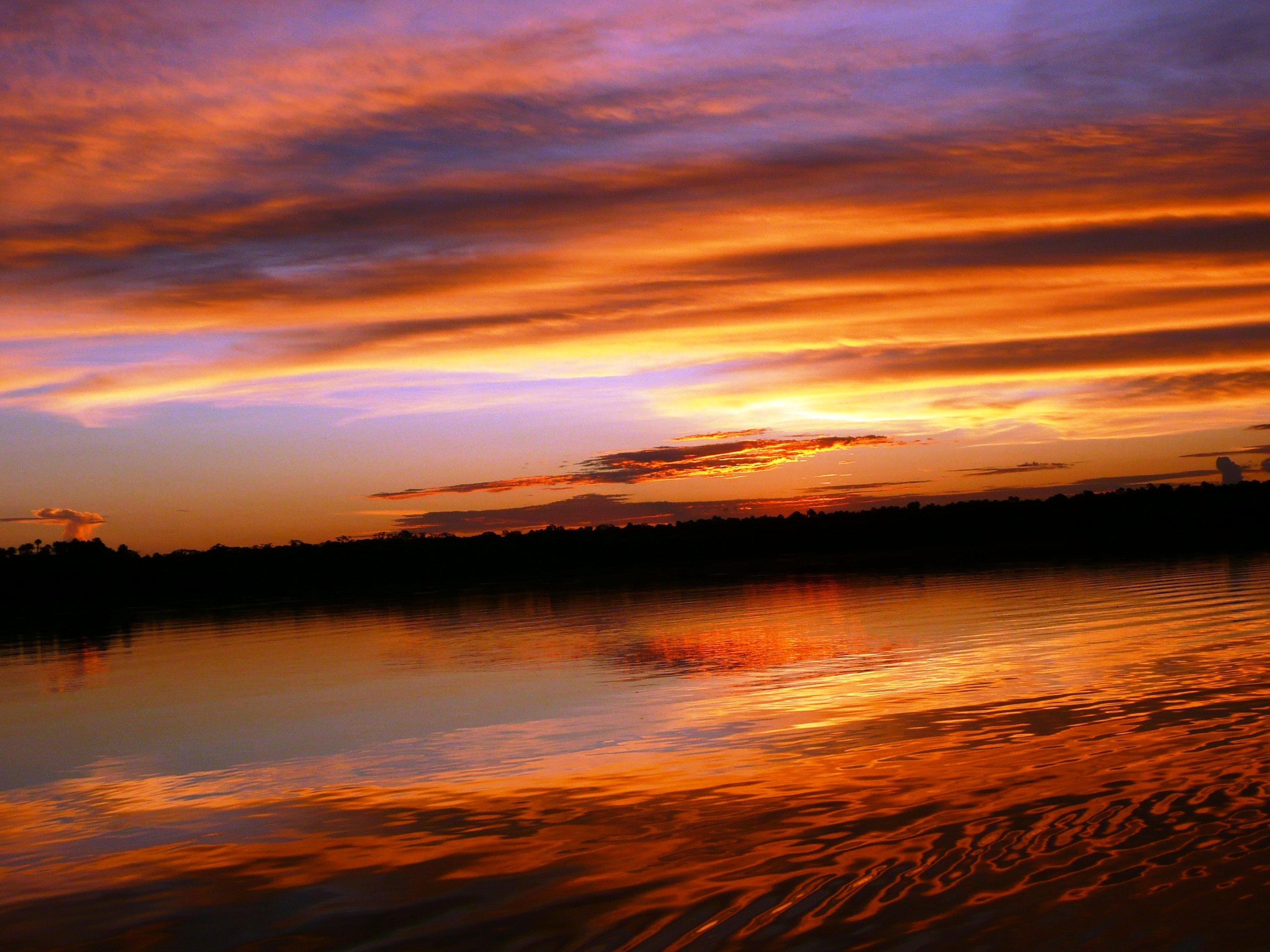 Sunset at Manu Park