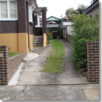 Old concrete driveway