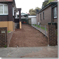 Old driveway removed