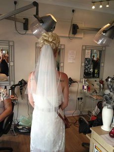 rear view of the hairstyle