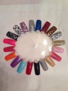a variety of nail shades