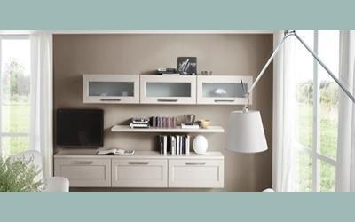 vendita soggiorno con parete attrezzata