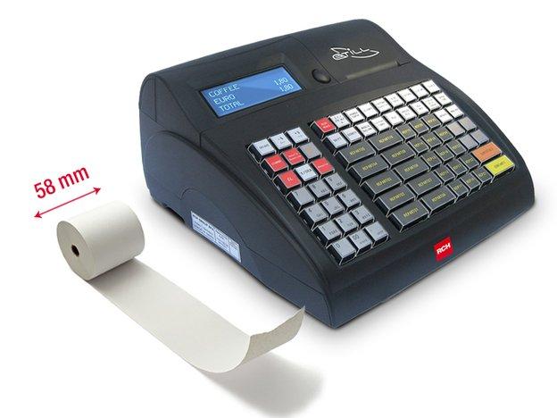 registratore di cassa classico con rotolo da 58mm per scontrini