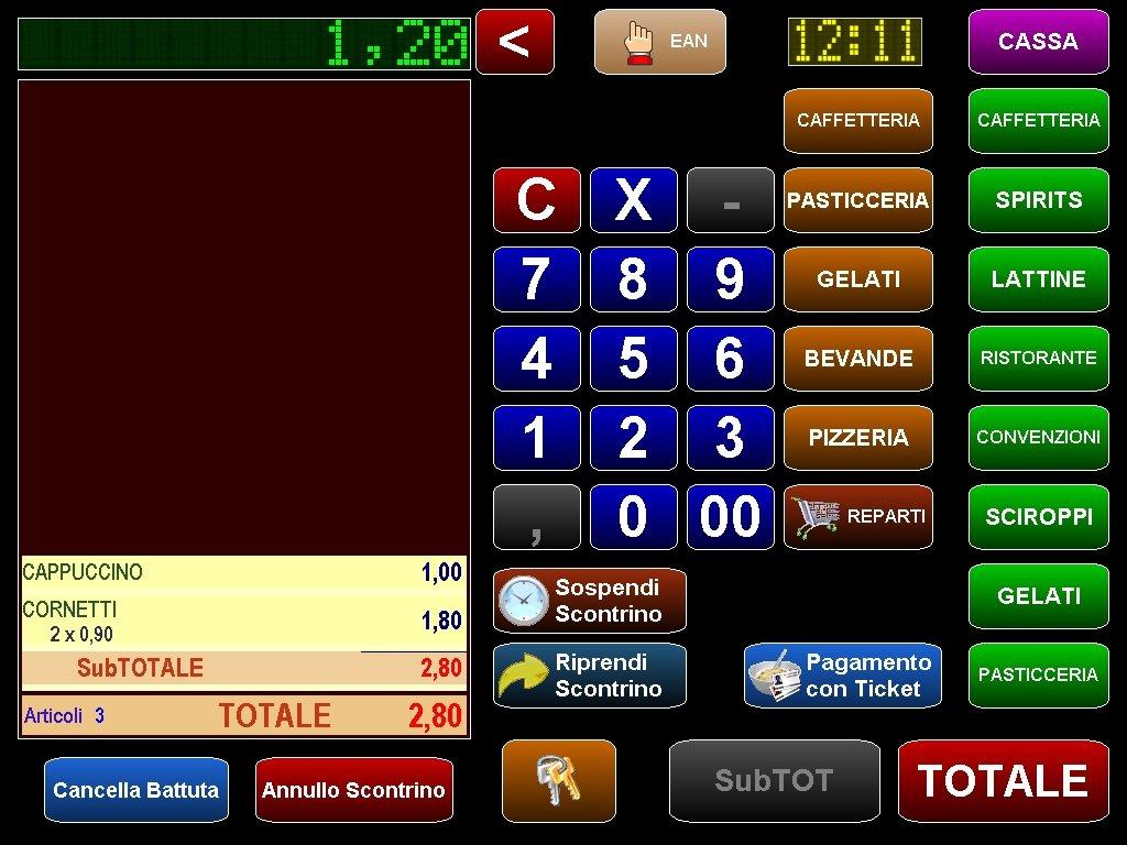 software per registratore di cassa