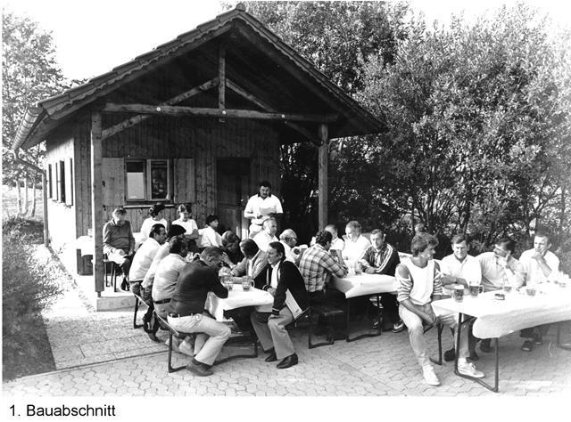 Vereinsheim nach dem ersten Bauabschnitt