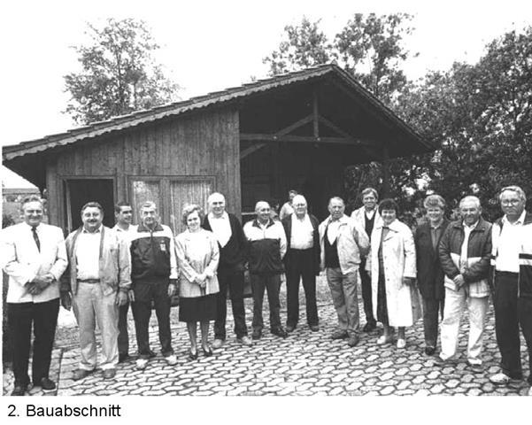 Vereinsheim nach dem 2. Bauabschnitt