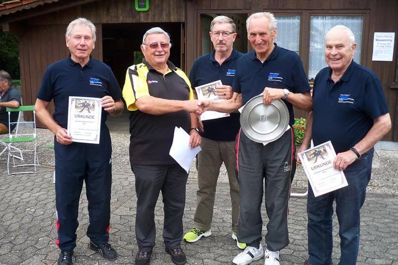 Gemeindemeisterschaft 2014 Sieger VdK Ortsverband Moosinning Neuching