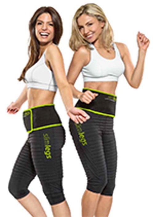 due ragazze con delle fascie dimagranti