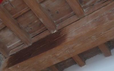 Restauro soffitto a cassettoni