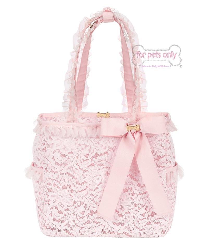 borsa rosa con fiocco