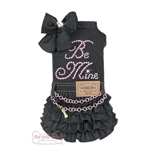 vestito nero per cagnolina