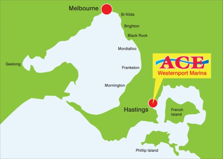 ace fishing charters map