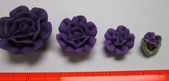 Purple Royal Icing  Roses