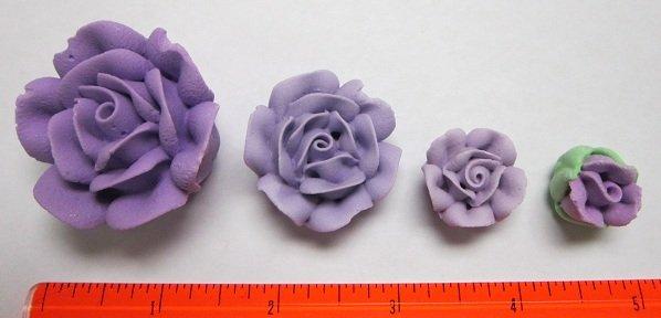 Lavender Royal Icing  Roses