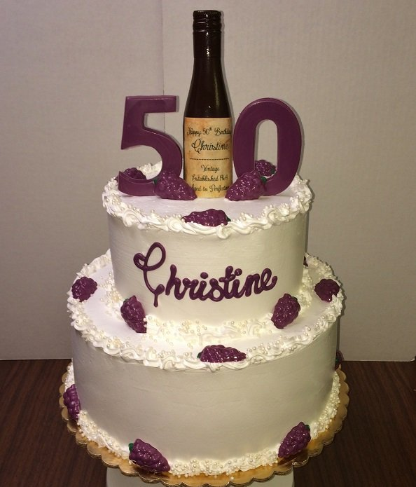 Fine As Wine Birthday CAke