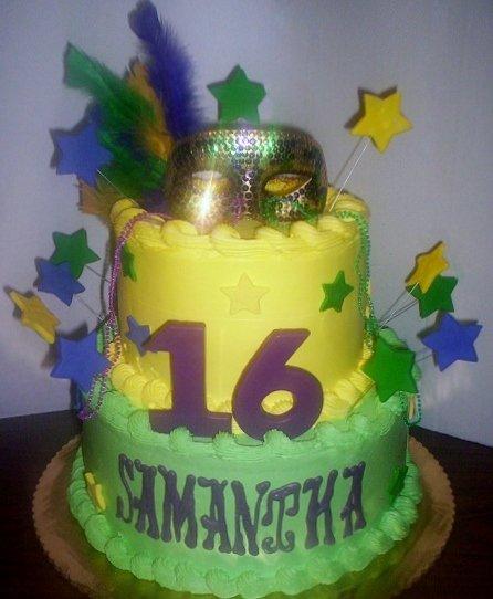 Mardi Gras Masquerade Birthday Cake | Delicious Creations near Chicago in Hickory Hills, IL