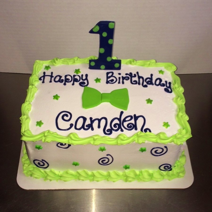 Navy Blue Lime Green Bowtie Birthday Cake Delicious Creations Near Chicago In Hickory Hills