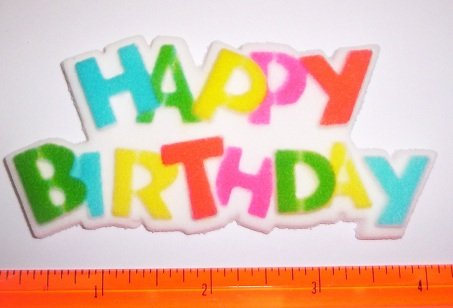 Happy Birthday Plaque