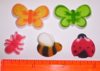 Butterflies, Ladybugs, and Bees