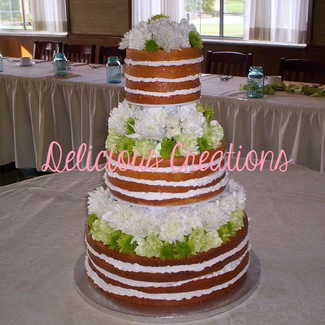Naked Wedding Cake | Delicious Creations near Chicago in Hickory Hills, IL