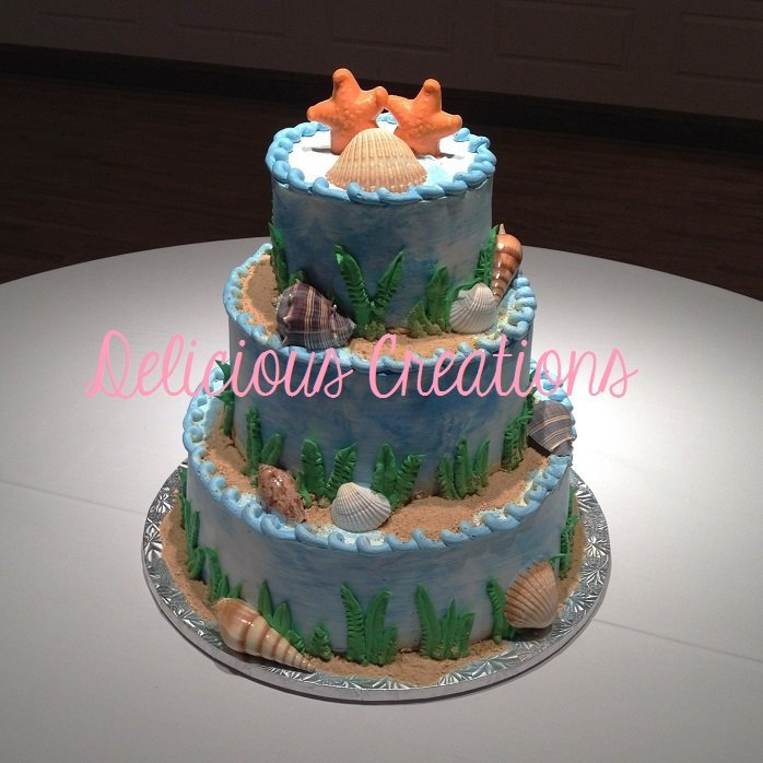 Beach Wedding Cake | Delicious Creations near Chicago in Hickory Hills, IL