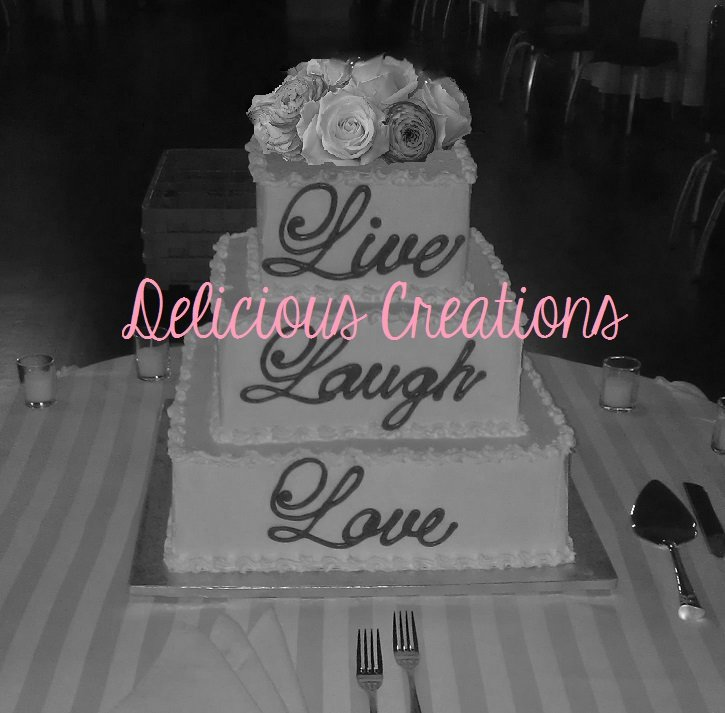Live Laugh Love Wedding Cake | Delicious Creations near Chicago in Hickory Hills, IL