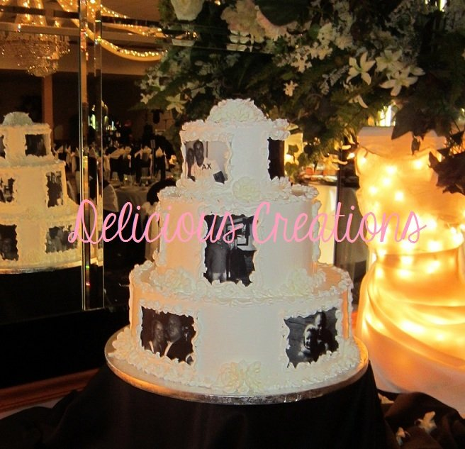 Photo Memories Wedding Cake | Delicious Creations near Chicago in Hickory Hills, IL
