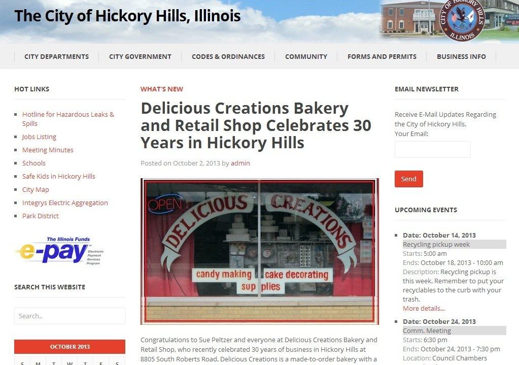 30th Anniversary Celebration | Delicious Creations near Chicago in Hickory Hills, IL