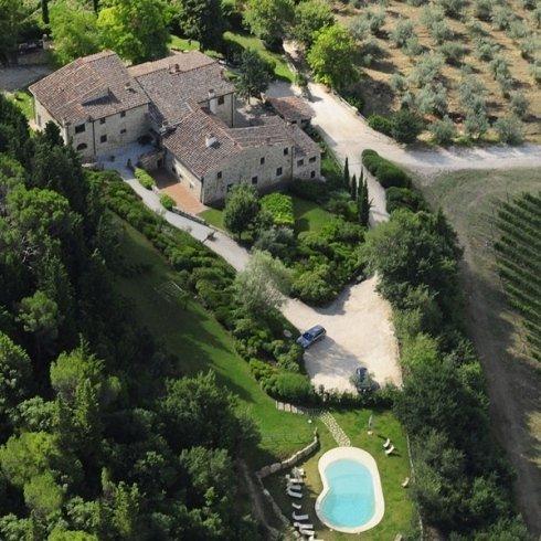 Foto aerea Tignanello