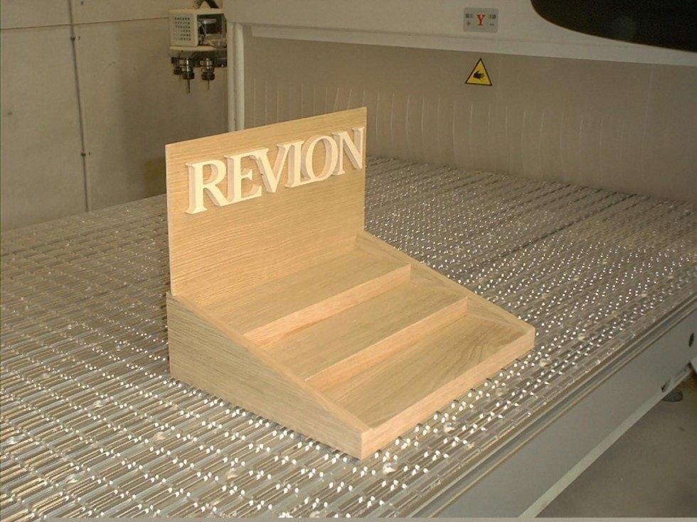 Espositore Revlon con logo