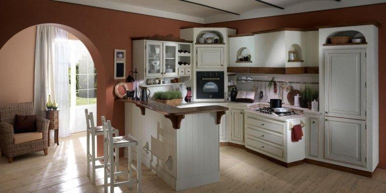 Panoramica di cucina arredata
