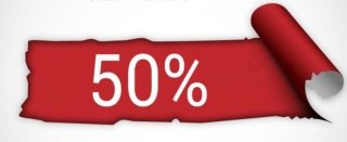 Immagine con scritto 50%