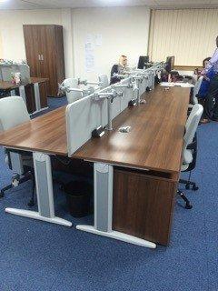 neatly arranged office interiors