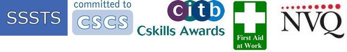 SSSTS CSCS NVQ CITB logos