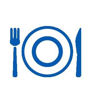restaurant fork knife plate