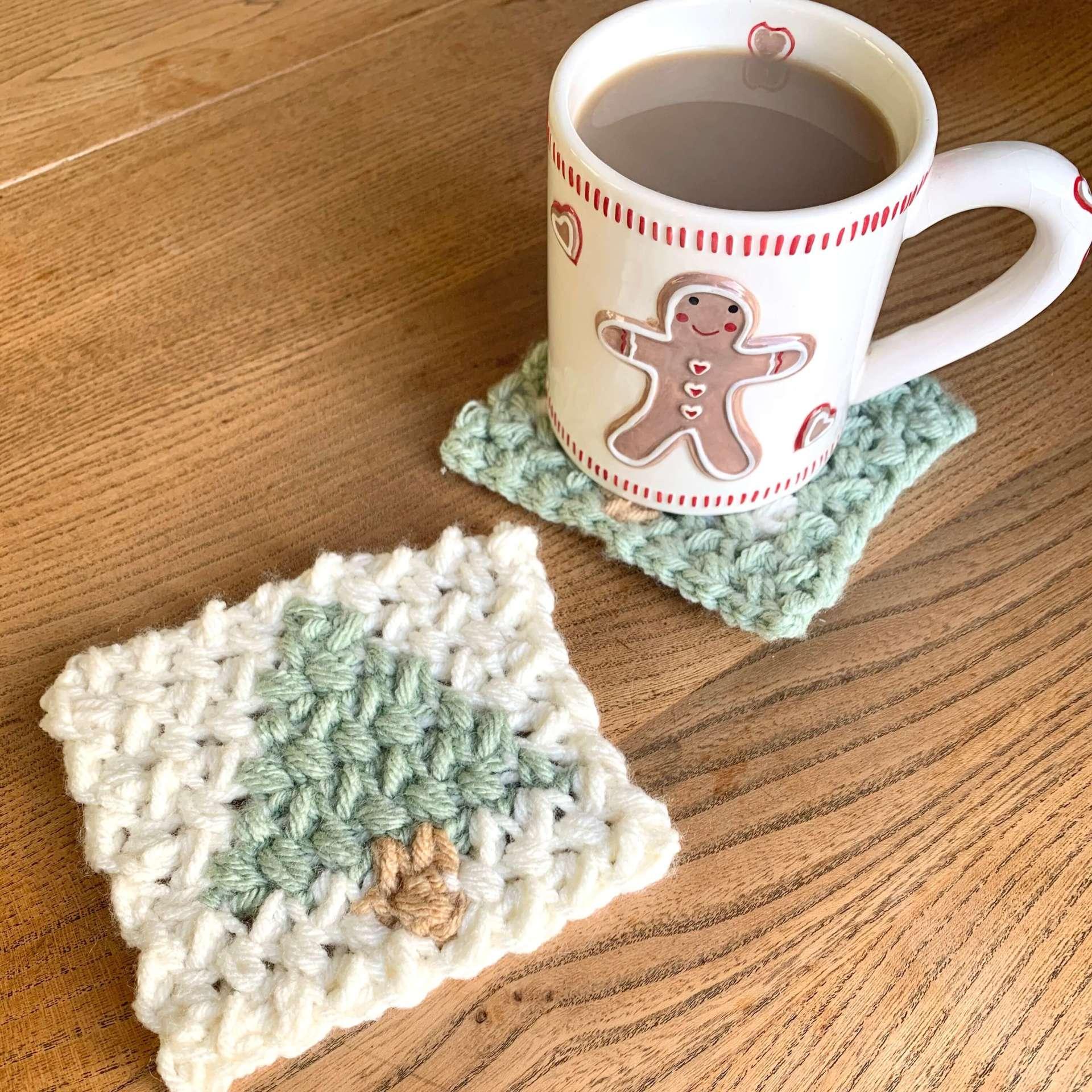 Free Crochet Christmas Tree Coaster Pattern