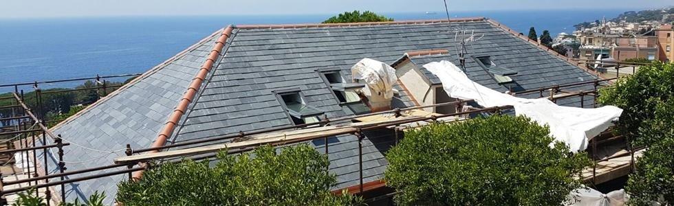rifacimento tetto coibentazione Nicolosi Rapallo