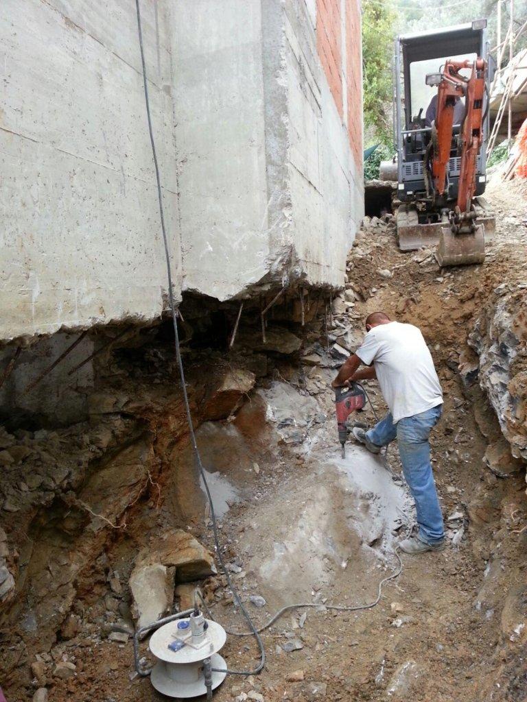 ripristino fondamenta impresa edile Nicolosi Rapallo