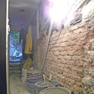 interno facciata in rifacimento Rapallo